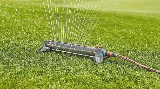 <strong>VANNSPREDER:</strong> Gir en fleksibel og jevn vanning av gressplener.