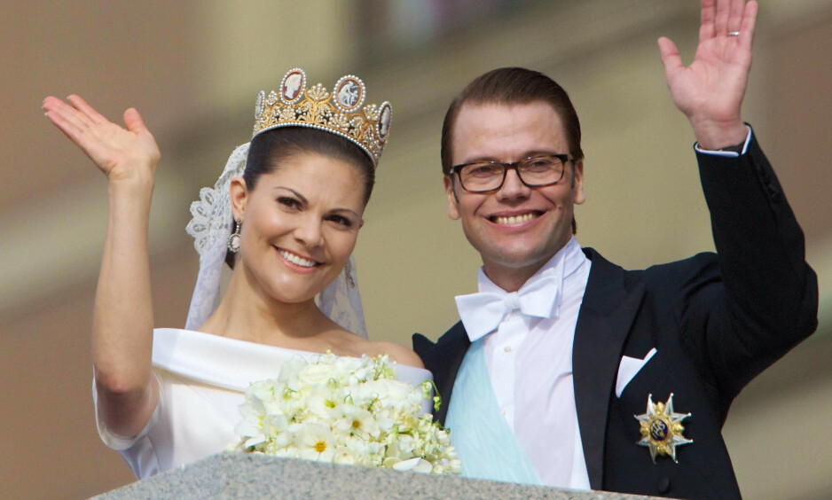 BRYLLUPSDAG: 19. juni var det ti år siden kronprinsesse Victoria fikk sin prins Daniel, etter å ha kjempet for kjærligheten i flere år. Foto: NTB Scanpix