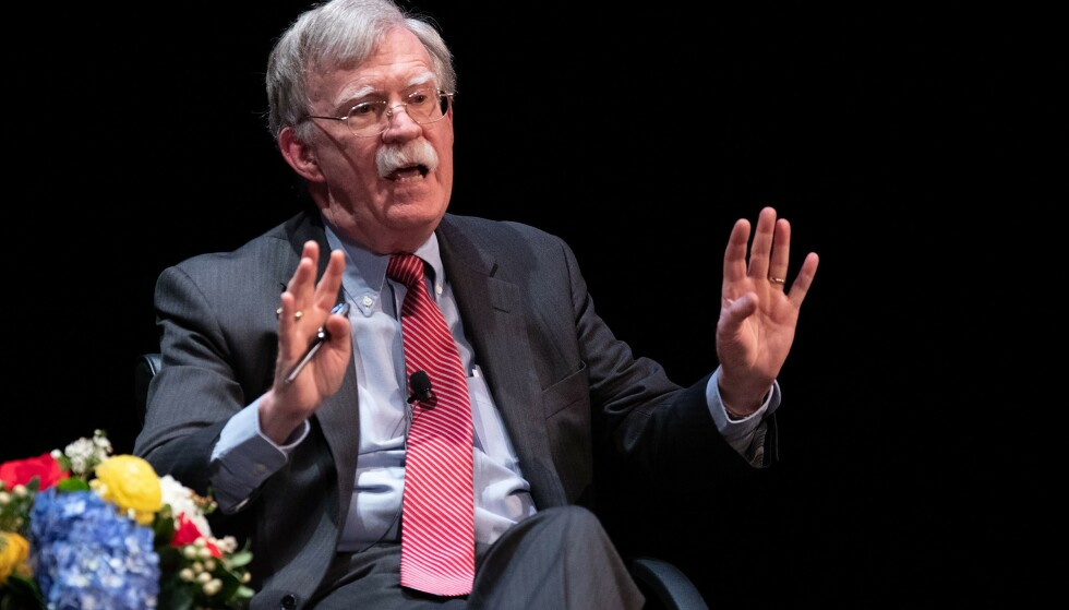 CONTROVERSIAL: It was controversial that John Bolton, an avid supporter of the US invasion of Iraq, should take part in the Holberg Debate, organized by the Holberg Prize and the University of Bergen.  Photo: Logan Cyrus / AFP / Scanpix.