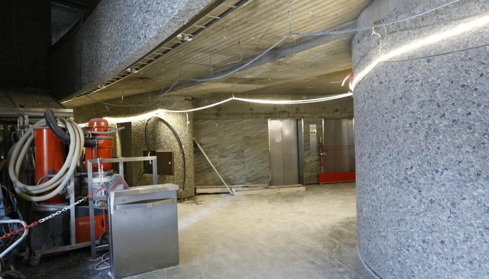 INNGANGSPARTIET: Innsiden sett fra hovedinngangen mot heisene og konkylietrappa. Foto: Nina Hansen / Dagbladet
