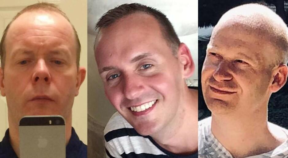 OFRE: Det var David Wails, Joe Ritchie-Bennett og James Furlong som ble drept i terrorangrepet i Reading lørdag kveld. Foto: Shutterstock / NTB Scanpix / Privat