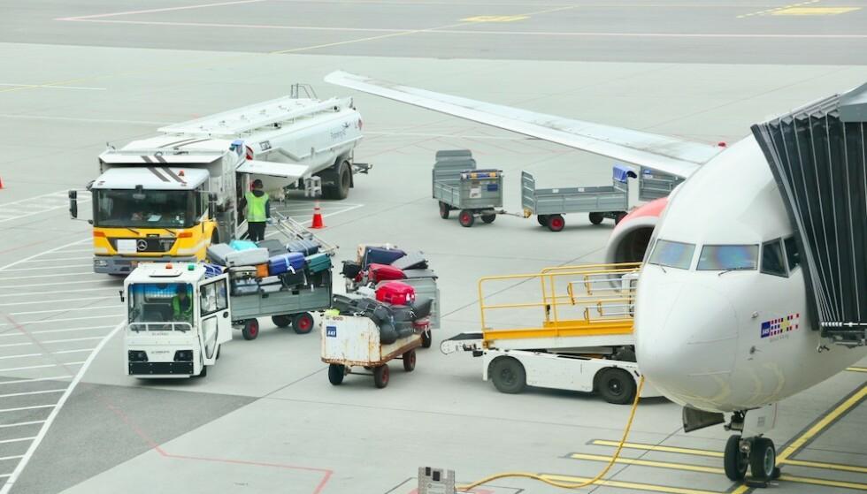 Sjekk inn: Ikke send verdisakene dine som innsjekket bagasje. Flyselskapene dekker bare en liten sum dersom bagasjen bli stjålet eller ødelagt. Foto: Odd Roar Lange