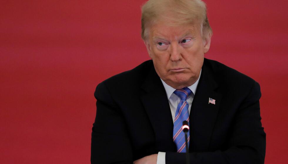 VIL IKKE VITE?: Donald Trump, denne gang snurt. Foto: REUTERS / NTB Scanpix