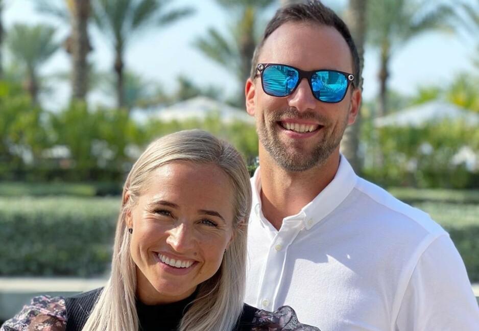 RØPER KJØNNET: I form av et innlegg på Instagram deler influenser og treningsprofil Inger Houghton at hun og ektemannen Ian venter en gutt og ei jente. Foto: Privat