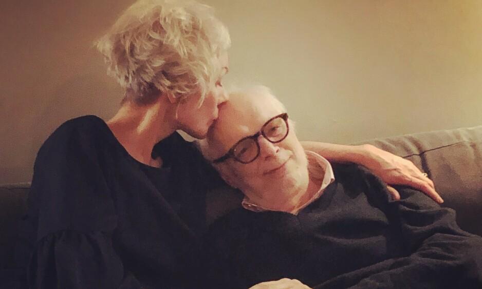 EKTEPAR: Hanne Ørstavik sammen med mannen Luigi Spagnol, som døde i juni. Foto: ANDREAS DONAT