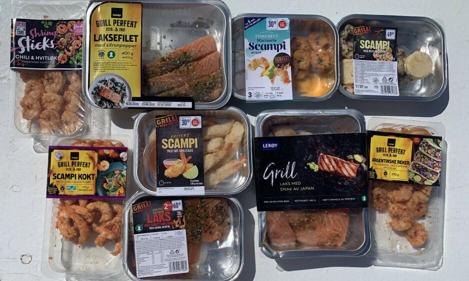 SJØMAT PÅ GRILLEN: Vi har testet et utvalg fisk og sjømat for grillen, og funnet fram til noen virkelige godbiter.