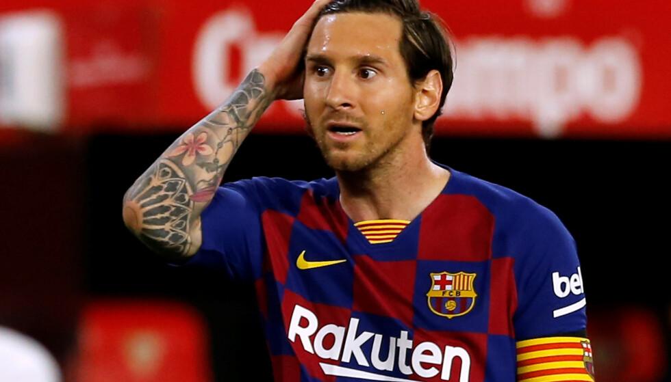 MISFORNØYD? Lionel Messi. Foto: REUTERS/Marcelo Del Pozo