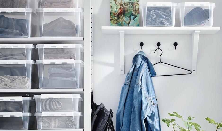 PÅ RETT PLASS: Ved enkle råd og tips får du garderoben til å fungere bedre.