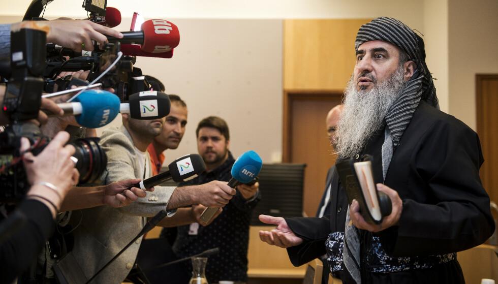 IKKE MEDHOLD: Mulla Krekar anket terrordommen mot seg, men fikk ikke medhold. Her i forbindelse med et fengslingsmøte i Oslo tingrett. Foto: Carina Johansen / NTB Scanpix