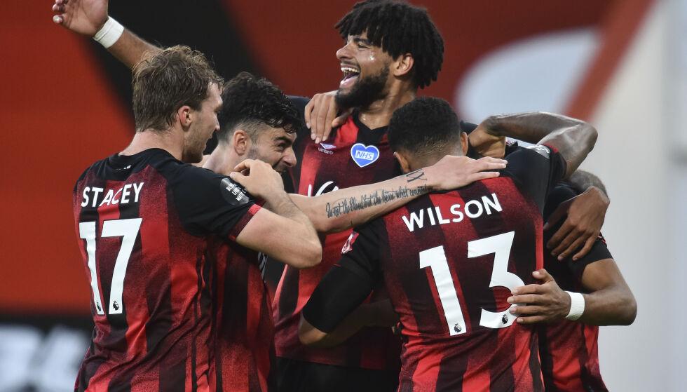 VIKTIG SEIER: Bournemouth tok en viktig seier i kampen om å unngå nedrykk. Foto: AP Photo / Glynn Kirk,Pool / NTB Scanpix