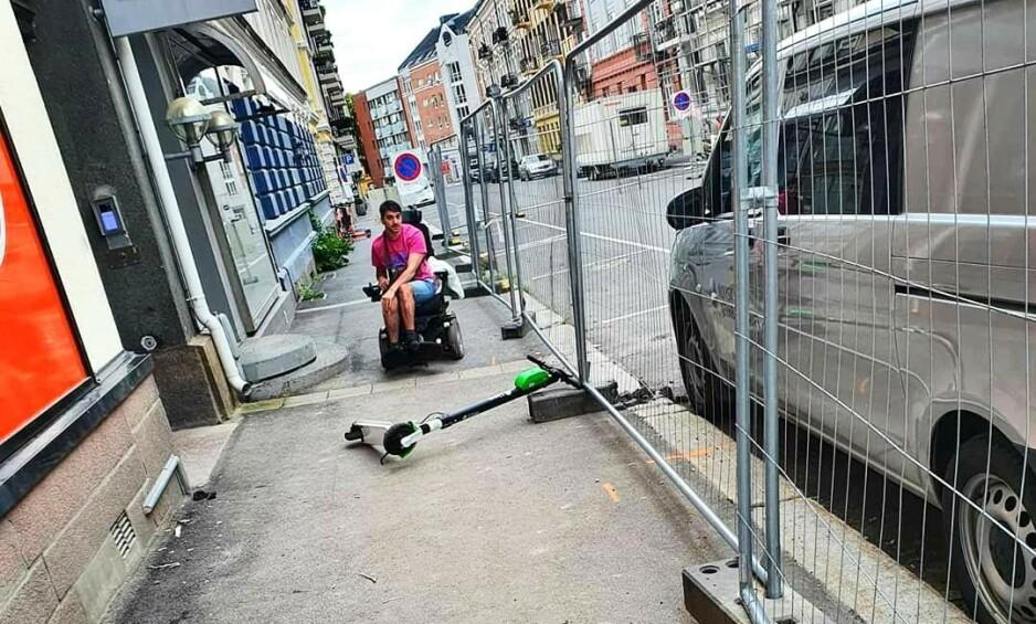 EL-SPARKESYKKEL: Samfunnet er designet for ikke-funksjonshemmede, og diskriminerer dermed de som ikke passer inn i normalen, skriver innleggsforfatteren. Foto: Privat