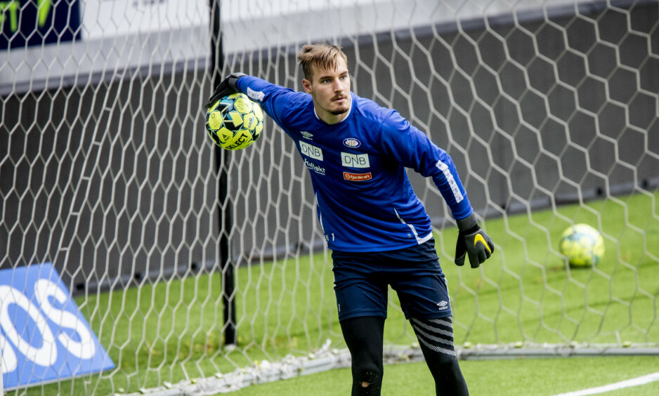 PÅ TRENING: Keeper Kjetil Haug på Intility stadion. Foto: Christian Roth Christensen / Dagbladet