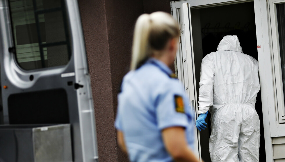 TRE ÅSTEDER: Politiet undersøkte onsdag en av boligene den 31 år gamle mannen gikk til angrep mot. Foto: Christian Roth Christensen / Dagbladet