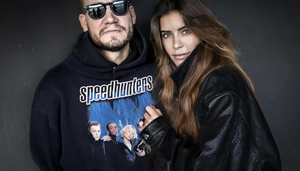 EGEN TV-SERIE: Nicklas Bendtner og Philine Roepstorff. Foto: NTB Scanpix