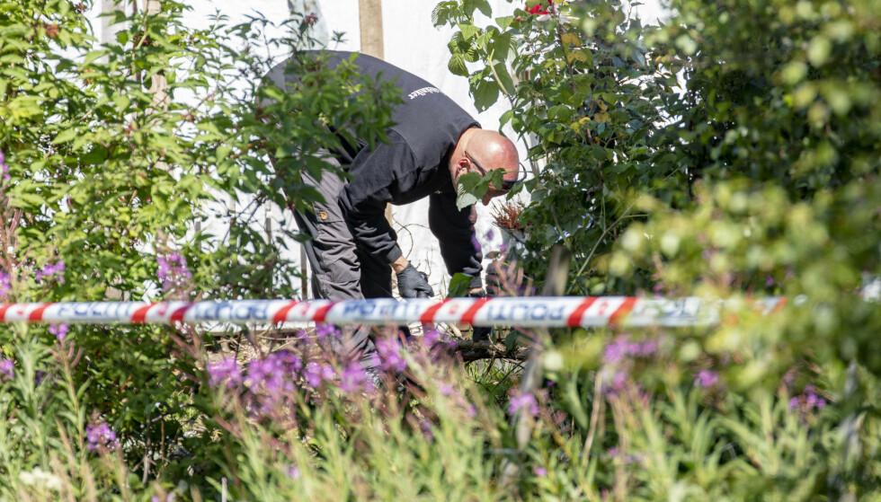FØRSTE DRAP: 43 år gamle Christian Halvorsen ble søndag 12. juli funnet drept utenfor huset sitt. Foto: Geir Olsen / NTB scanpix