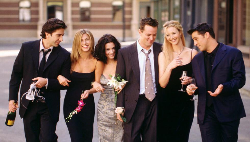 SAMMEN IGJEN: Spesialepisoden av Friends kan filmes i august om det trygt nok avslører David Schwimmer. Foto: NTB/Scanpix.