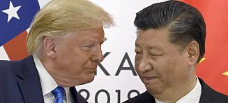 Full krasj mellom USA og Kina
