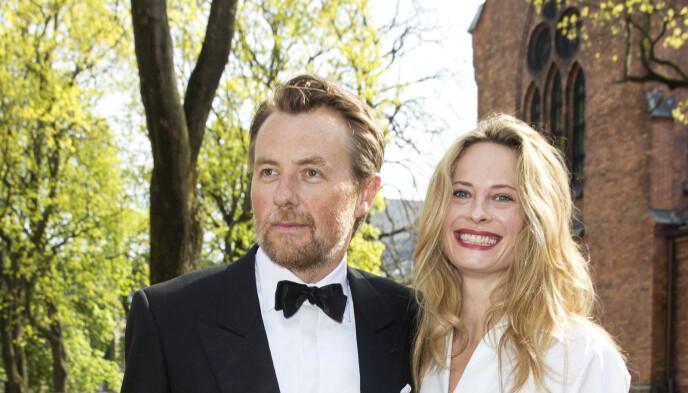 TRE BARN SAMMEN: Fredrik Skavlan og Maria Bonnevie ble sammen i 2006 og har tre barn sammen. Foto: NTB
