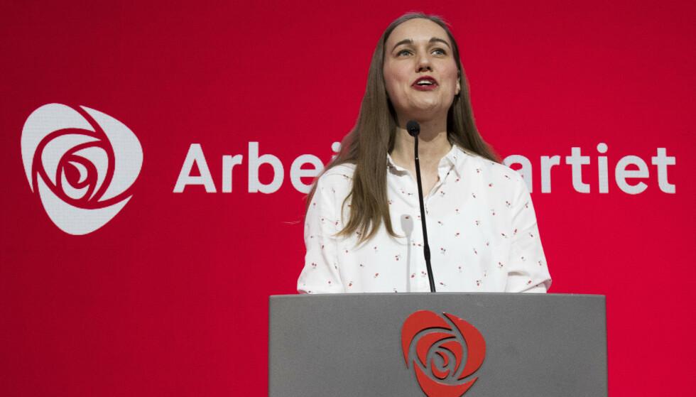 VIL HA MER SKATT: AUF-leder Ina Libak under landsmøtet til Arbeiderpartiet i Folkets Hus i 2019. Foto: Terje Pedersen / NTB scanpix