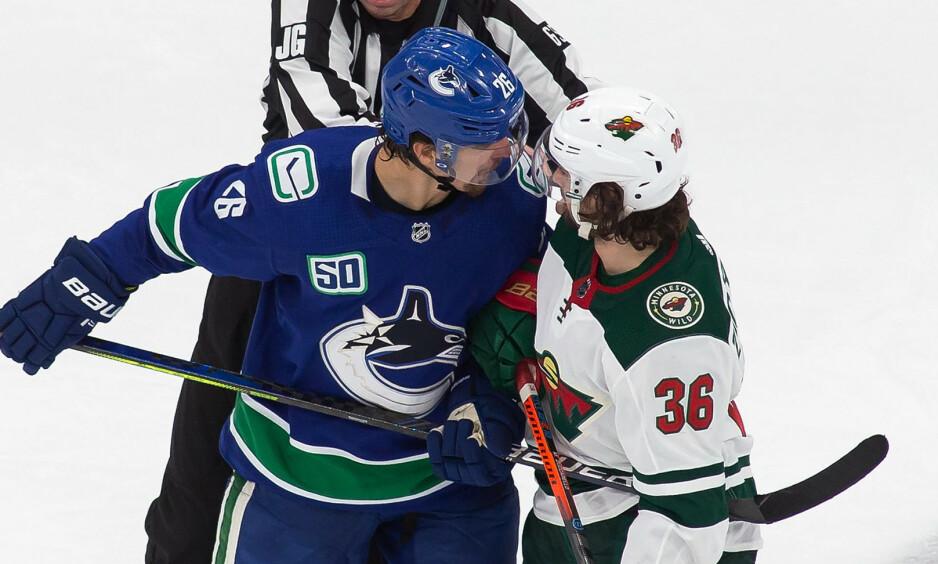 SEIER: Mats Zuccarello var med da Minnesota Wild tok første stikk mot Vancouver Canucks. Foto: Codie McLachlan / The Canadian Press via AP / NTB scanpix
