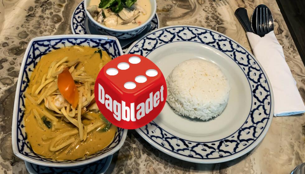 THAI-TILBUD: Det kryr av thairestauranter i Oslo by. Den paletten som thaimat spiller på er veldig interessant, men det krever dyktige folk på kjøkkenet om det skal bli skikkelig godt. Og det var en overraskende vinner i Dagbladets test av thairestauranter denne gangen. Foto: Elisabeth Dalseg