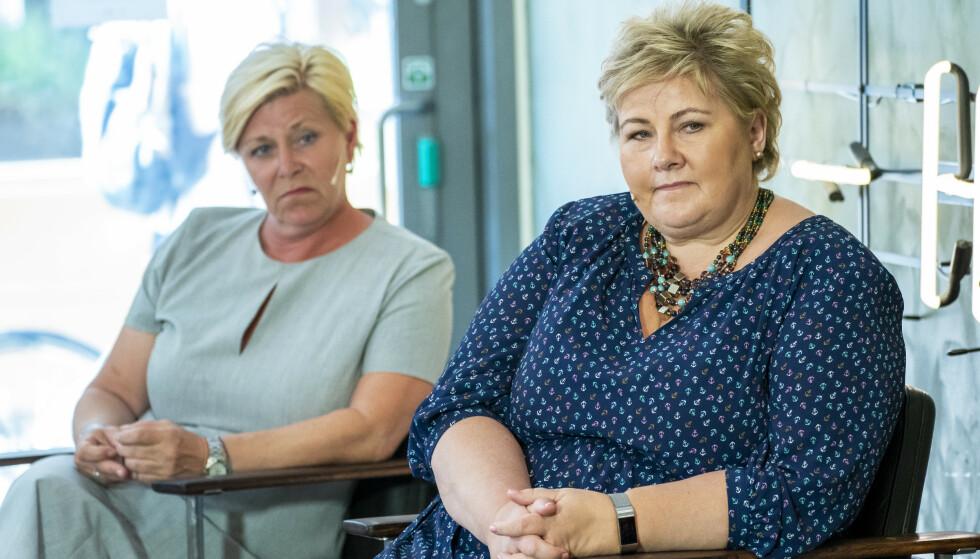 KRAV: Frp-leder Siv Jensen mener statsminister Erna Solberg bør gi Frankrike full støtte i striden med Nato-allierte Tyrkia. Foto: Ole Berg-Rusten / NTB scanpix