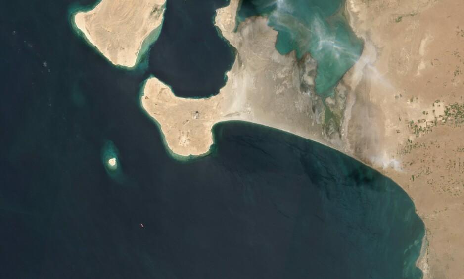 ADVARER: «Safer FSO» ligger noen kilometer nord for Hodeida i Jemen, med over en million fat olje i lasten. Foto: AFP/NTB Scanpix.