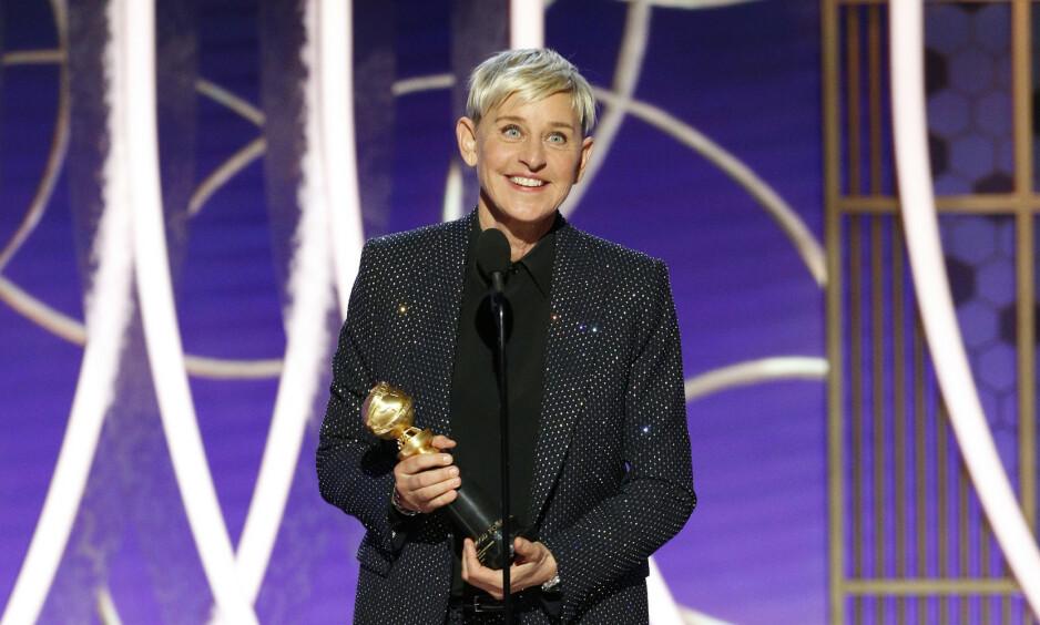 I HARDT VÆR: Kritikken mot talkshow-vert Ellen DeGeneres fortsetter. Men hun får også støtte. Foto: NTB Scanpix