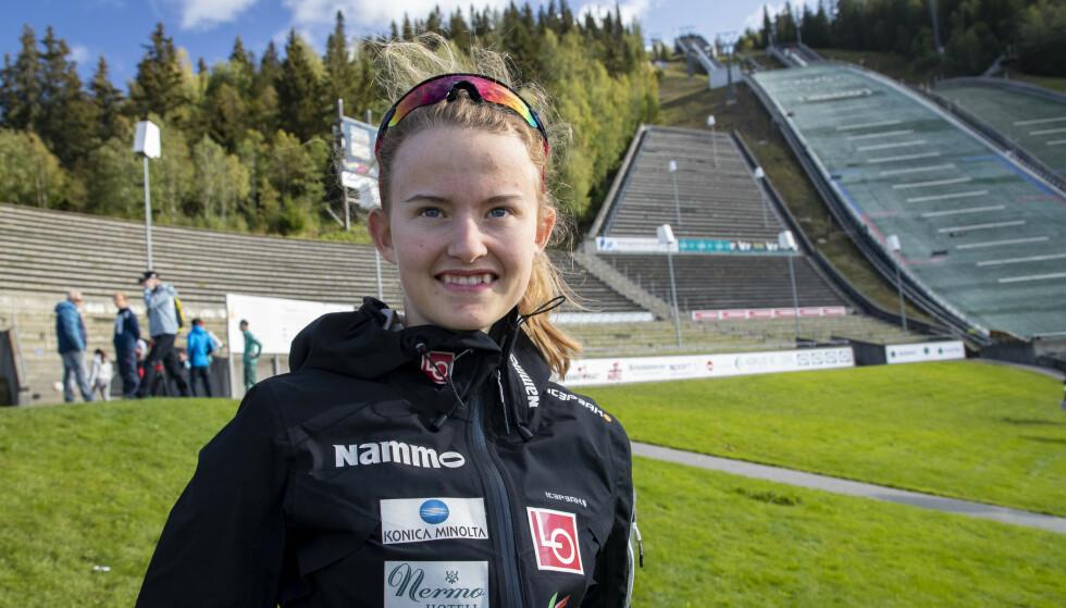 TALENT: Gyda Westvold Hansen er ett av kombinerthåpene vi har i Norge inn mot VM i 2021. Foto: Geir Olsen / NTB scanpix