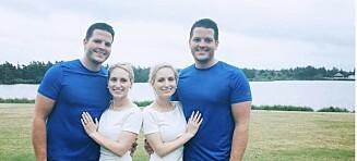 Tvillingsøstre gravide med tvillingbrødre