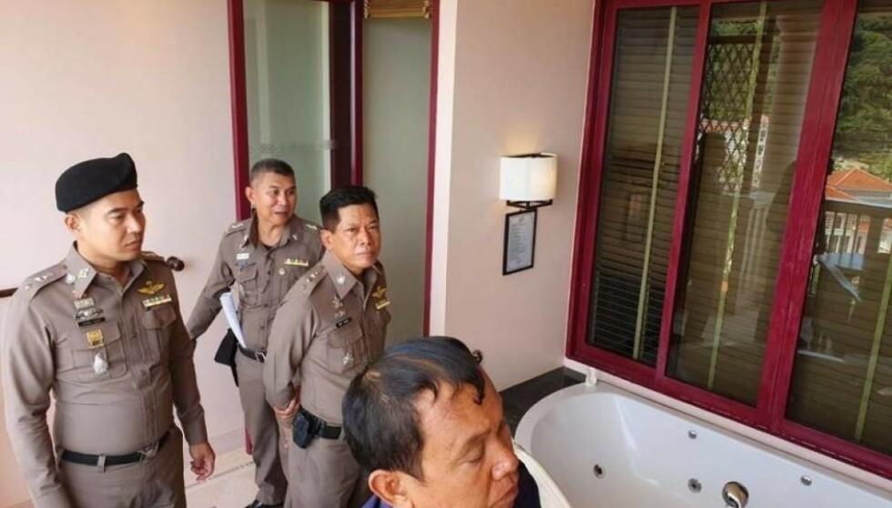 <strong>ETTERFORSKET:</strong> Politiet var raskt på stedet for å gjøre undersøkelser. Foto: Politiet