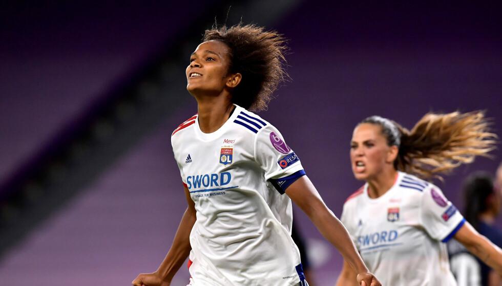 MATCHVINNER: Wendie Renard ble matchvinner da hun stanget inn 1-0-målet. Foto: Alvaro Barrientos/Pool/Reuters
