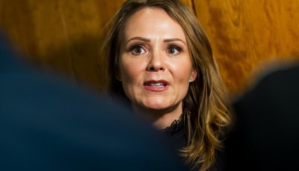LURER VELGERNE: Linda Hofstad Helleland (H) mener Ap lurer sine egne velgere.