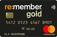 Få opptil 25% cashback med Remember Gold.