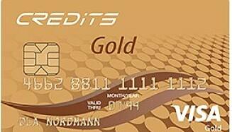 Credits Gold har flere forsikringer inkludert, blant annet reiseforsikring, er helt gebyrfritt og du betaler heller ingen årsavgift.