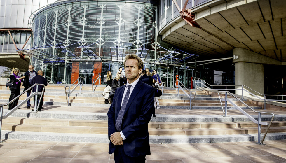 GAME OVER: Staten, her ved regjeringsadvokat Fredrik Sejersted, anket de to siste barnevernsdommene mot Norge i Strasbourg. Nå er Norges anker avvist i et panel med fem dommere. Foto: Siv Johanne Seglem / Dagbladet