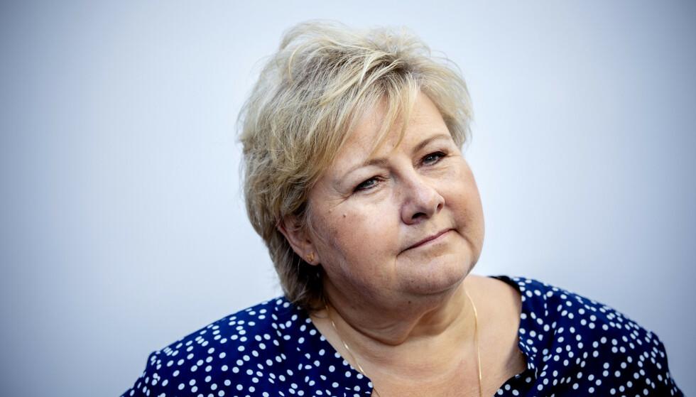 KUTTE I SKATT: Erna Solberg har kuttet mye i skatter til landets rikeste. En ny SSB-rapport viser at de rikeste blant oss er langt rikere enn først antatt. Foto: Nina Hansen / DAGBLADET