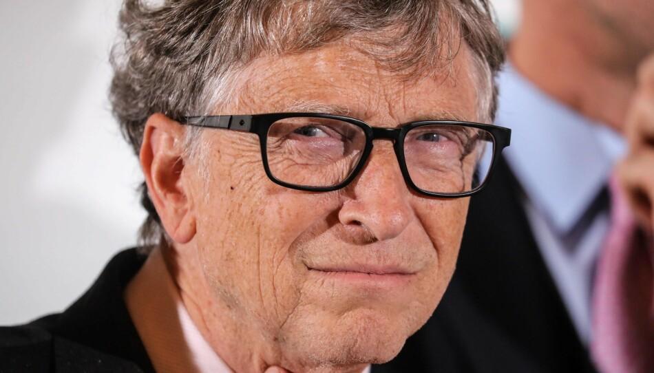 KLAR TALE: Bill Gates med nye uttalelser om covid-19. Foto: Ludovic MARIN / AFP