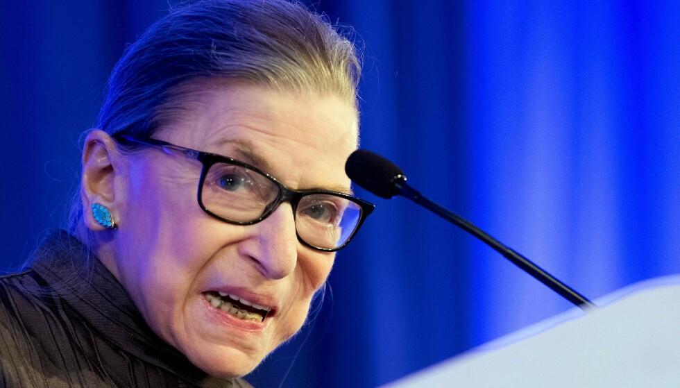<strong>IKON:</strong> Millioner av amerikanere sørger over avdøde høyesterettsdommer Ruth Bader Ginsburg. Foto: JIM WATSON / AFP