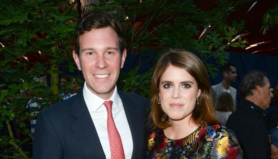 VENTER BARN: Prinsesse Eugenie og ektemannen Jack Brooksbank venter sitt første barn sammen. Foto: NTB