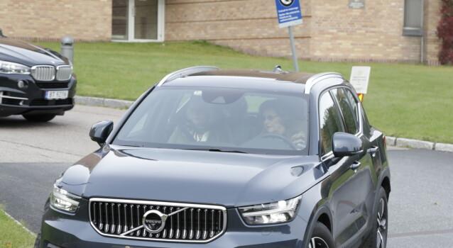 <strong>HAR VÆRT PÅ BESØK:</strong> Dronning Sonja tok turen innom Rikshospitalet for å besøke Kong Harald. Foto: Vidar Ruud / NTB