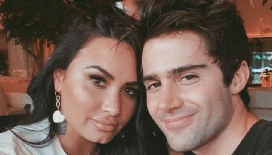 ANGIVELIG BRUDD: Flere medier melder at Demi Lovato og Max Ehrich har brutt forlovelsen etter to måneder. Foto: Instagram/Max Ehrich