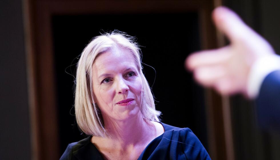 KONSULENTHJELP: Marte Gerhardsen, utdanningsdirektør i Oslo, har brukt åtte millioner på konsulenter ifm omorganisering og oppbemanning av direktører. Foto: Hkon Mosvold Larsen / NTB