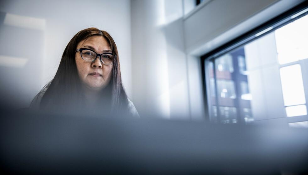 VASKET SVART: Den mongolske kvinnen vasket svart for Oslo-eliten. Foto: Christian Roth Christensen / Dagbladet