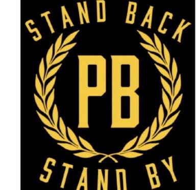 <strong>NY LOGO:</strong> Den høyreekstreme-organisasjonen Proud Boys deler logoer med Trumps uttalelse. Foto: Skjermdump/Telegram.