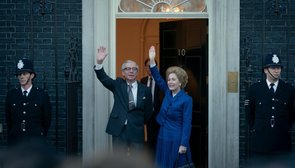 <strong>STATSMINISTER:</strong> Margaret Thatcher spilles av Gillian Anderson. Hun var Storbritannias statsminister fra 1979 til 1990. Foto: Netflix