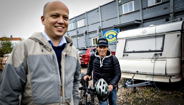 GÅR TIL SENTERPARTIET: Trygve Slagsvold Vedum og Jan Bøhler skal nå jobbe sammen. Foto: Christian Roth Christensen / Dagbladet