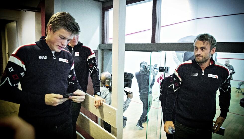 <strong>IMPONERT:</strong> Johannes Høsflot Klæbo synes Petter Northugs trening for tiden er solid. Foto: Bjørn Langsem / Dagbladet