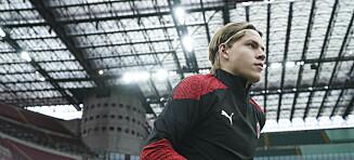 Hauge fikk Milan-debuten