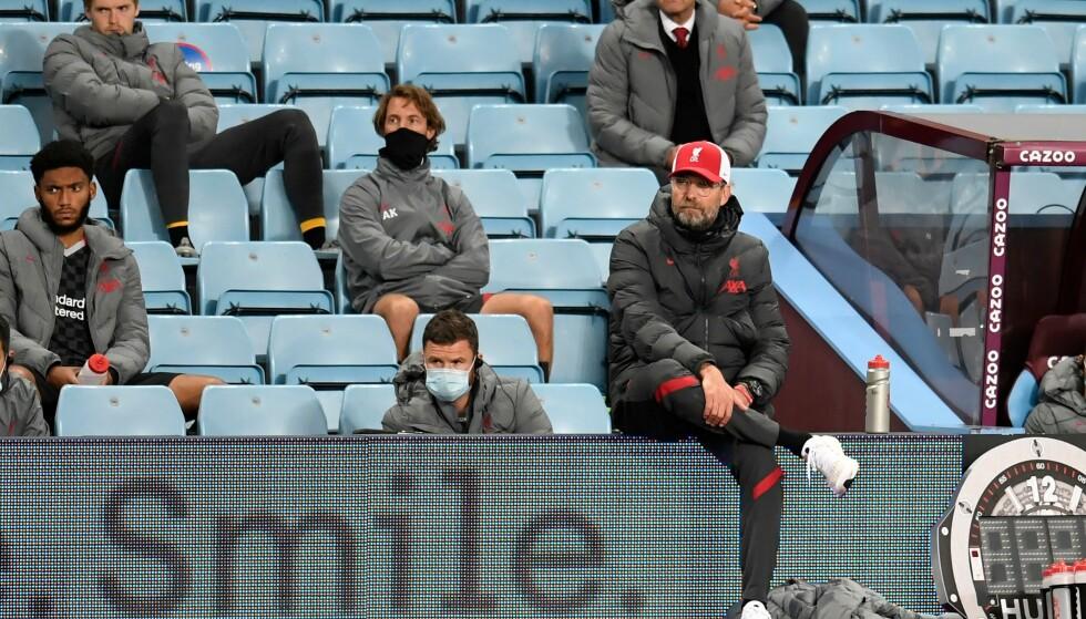 <strong>FORTVILER:</strong> Jürgen Klopp fortviler etter tapet mot Aston Villa. Foto: NTB